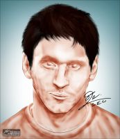 Messi Portrait by JuniorNeves