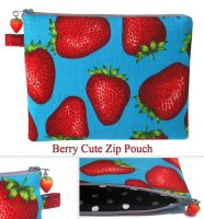 Berry Cute Zip Pouch by chat-noir