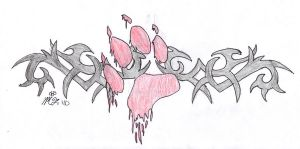 Tribal Wolf Paw Design by Mistress-Moon-Wolf