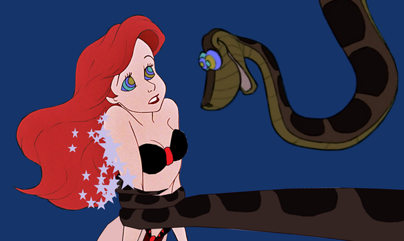 Kaa and Slave Ariel: A Tight Squeeze (Request) by hypnotica2002