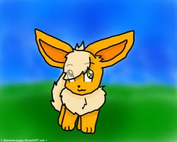Kaki Inu The flareon by disowned-puppy
