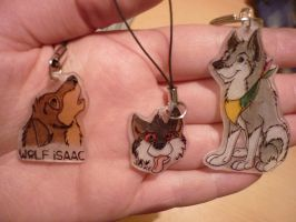 Shrinky dinks for friends by AniuProserpina