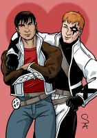 Rictor and Shatterstar by xcub