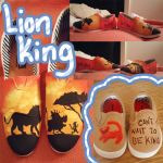 Lion King Shoes by sugarbearkitty