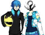 Aoba and Celty Switcheru  by Ripping-Flesh