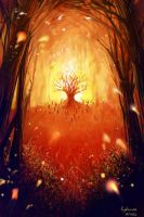 burning forest by zhowee14