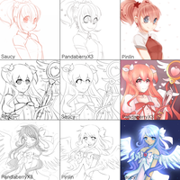 Switcharound Meme [Magic Girls] by Pinlin