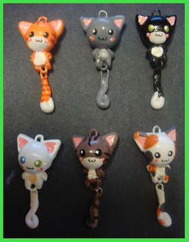 Charms - Dangly Kitties by MandyPandaa