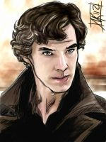 BBC Sherlock Thought Color by semie