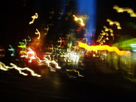 Light Trails In New York City by TheCloverParadox