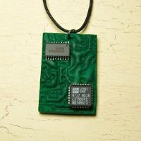 Circuit board necklace by skuggsida