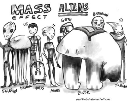 mass effect aliens by marTinder