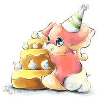 Party Audino by Co0kie-Cat