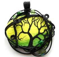 Twilit Forest Pendant No. 8 by ThrottledRose