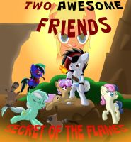 Two Awesome Friends: Secret of the Flames by SilvatheBrony