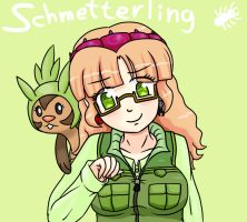 Schmetterling y  Chespin. by ah-puch-zegno