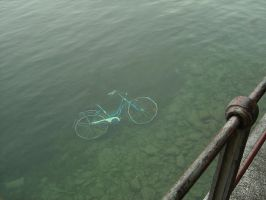 Bicycle in the Lake by brandonolterman