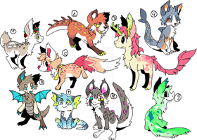 Adoptables by Pand-ASS