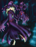SSP - R8 - Gijinka -:Mismagius: - Heather by HezuNeutral