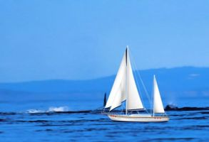 floating sailboat for XWidget by qiancang