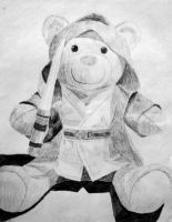 Jedi Bear by groundhog22