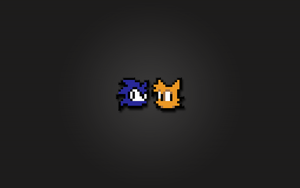 Sonic and Tails 8bit Wallpaper by LaChRiZ