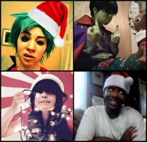 The Gorillaz: Merry Christmas by CrazyHarrison