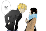Mamura caring about Yosano (HnR) by Lillylulla
