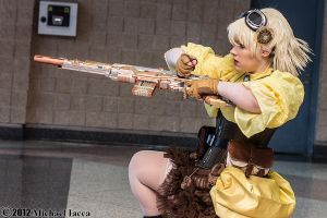 Steampunk Seras Victoria 6 by Insane-Pencil