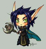 WoW: Chibi BE Priest by ryumo