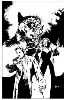 The X-Files: Year Zero #2 variant cover Inks by RobertHack