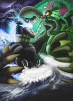 Fear vs Fury: Godzilla vs Cthulhu by Mr-DarkBlade