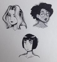 ladies (daily sketches) by CleverTherman
