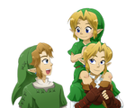 Link Times Three by Left-Handed-Knight