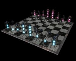 Wireframe Chess Set by RiceGnat
