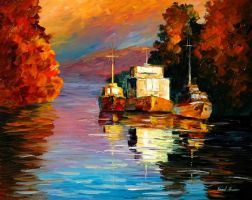 Evening sun oil painting on canvas by L.Afremov by Leonidafremov