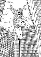 Spider-man 09 ink by thelearningcurv