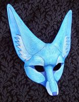 Blue Fennec Fox by merimask