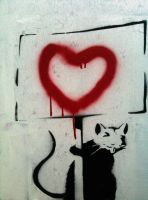 Banksy Rat - expression by Boredomdoodler