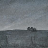 three trees on a hill by hclay