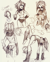Sketch Dump by MoniquePalmerine