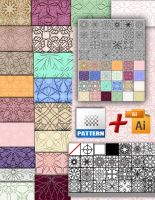 photoshop patterns and illustrator by roula33