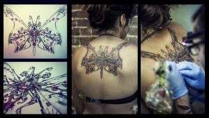 butterfly tattoo by foxxmax