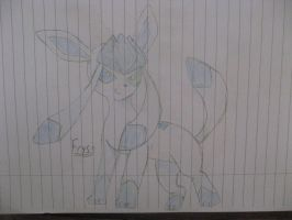 Glaceon OC : Frys by ThreeSecondsBack