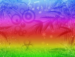 Psychedelic Rainbow Wallpaper by antichange