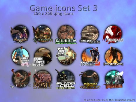 game icon set3 made by XeoDon by XeoDon