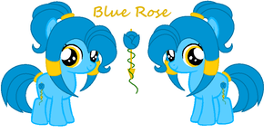 Blue Rose by PyscoSnowflake
