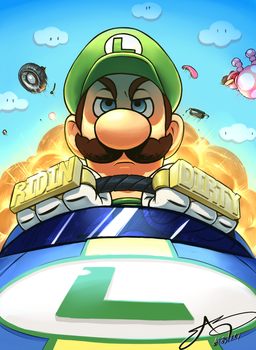 Luigi doesn't mess around by SHARK-E