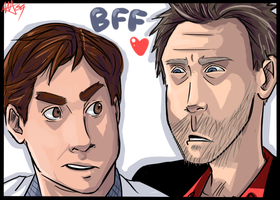House and Wilson . BFF by starchiishio