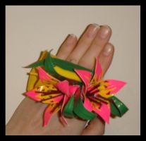 DT Tropical Flower Corsage by DuckTapeBandit